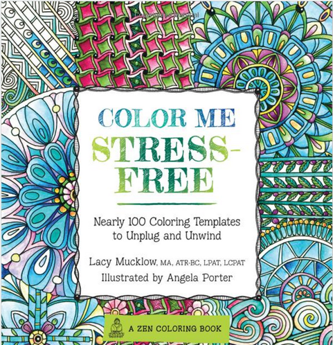 image of adult coloring book to help lower your stress