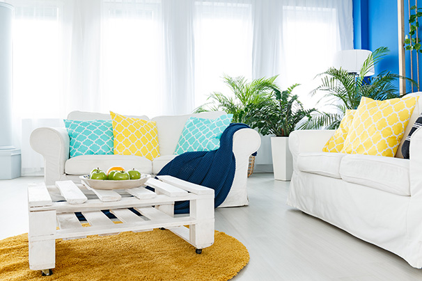 image of colorful and simple decorative items to transform your living space