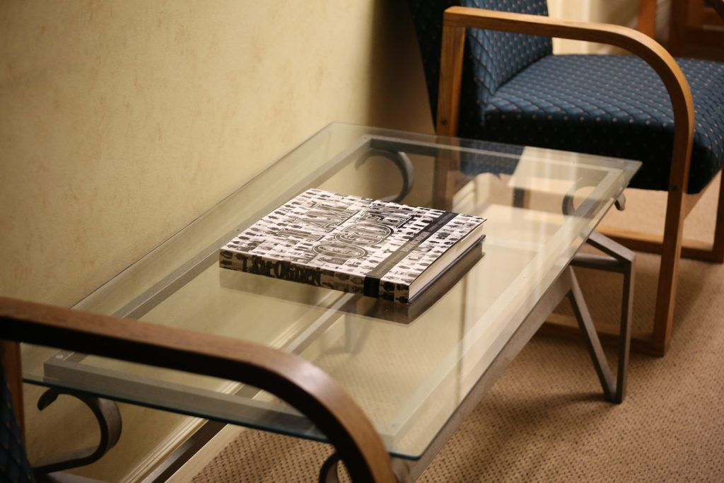 image of a book on a coffee table