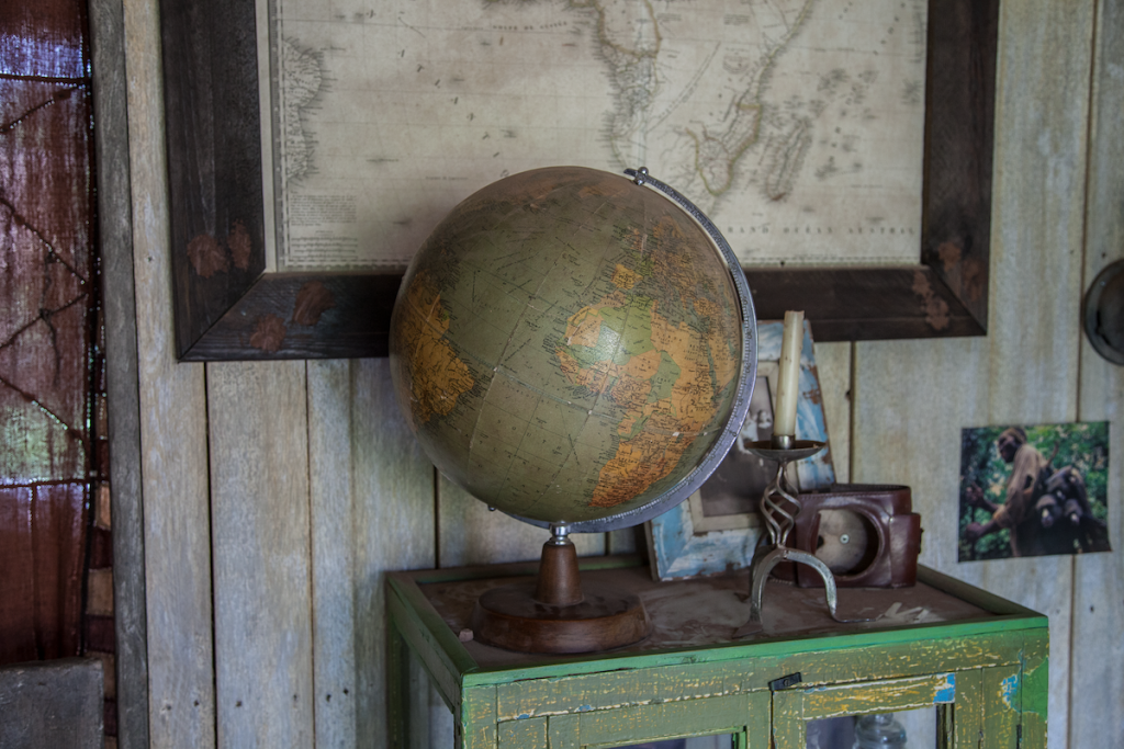 image of a world globe decorating accessory which adds harmony to your living space
